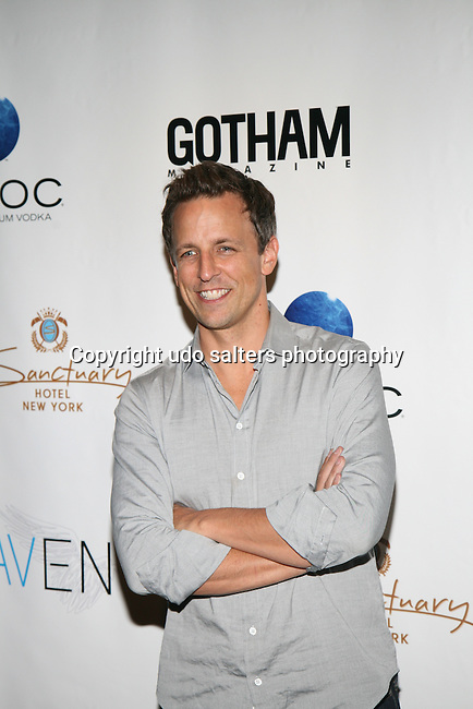 Host of Late Night Seth Meyers at Gotham magazine's 'The Men's Issue' release party at The Sanctuary Hotel powered by CÎROC Vodka, NY