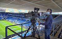 16th May 2020, Rhein-Neckar-Arena, Hoffenheim, Germany; Bundesliga football,1899 Hoffenheim versus Hertha Berlin; The hygiene measures are observed by the camera operator