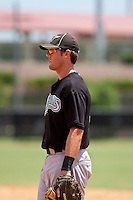 Brian McConkey of the Gulf Coast League Marlins at the Osceola Heritage Park in Kissimmee, Florida July 22 2010. Photo By Scott Jontes/Four Seam Images