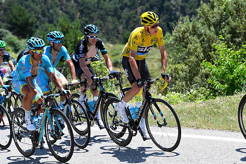 10.07.2016. Vielha Val d'Aran to Andorre Arcalis, France. Tour de France stage 9.  FROOME Christopher of Team Sky during stage 9