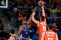 Valencia Basket's Fernando San Emeterio and Herbalife Gran Canaria's Royce O'Neale during Quarter Finals match of 2017 King's Cup at Fernando Buesa Arena in Vitoria, Spain. February 17, 2017. (ALTERPHOTOS/BorjaB.Hojas) /Nortephoto.com