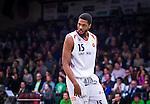 S&ouml;dert&auml;lje 2014-04-15 Basket SM-Semifinal 5 S&ouml;dert&auml;lje Kings - Uppsala Basket :  <br /> Uppsalas Keith Wright <br /> (Foto: Kenta J&ouml;nsson) Nyckelord:  S&ouml;dert&auml;lje Kings SBBK Uppsala Basket SM Semifinal Semi T&auml;ljehallen portr&auml;tt portrait