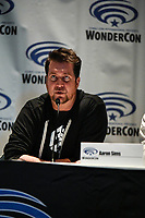 Aaron Sims at Wondercon in Anaheim Ca. March 31, 2019