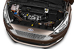 Car Stock 2015 Ford Grand C-Max Titanium 5 Door Mini Mpv Engine  high angle detail view