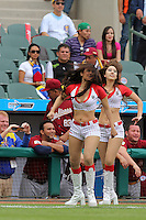 HERMOSILLO, Son. February 3, 2013. Cheerleaders during the game of the Caribbean series of Baseball Hermosillo 2013 between  Venezuela and Puerto Rico held at the Sonora Stadium. /Porristas  durante el juego de la Serie del Caribe de Beisbol, Hermosillo 2013 entre Venezuela y Puerto Rico  celebrado en el Estadio Sonora.FOTOS:GermánQuintana