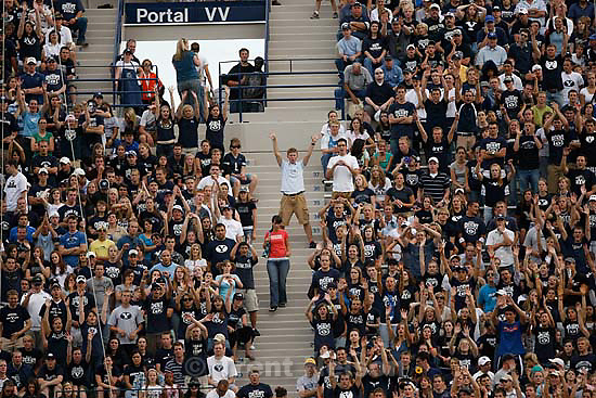 Provo - BYU vs. Northern Iowa college football Saturday, August 30, 2008 at Edwards Stadium. fans