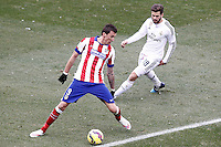 Atletico de Madrid's Mario Mandzukic (l) and Real Madrid's Nacho Fernandez during La Liga match.February 7,2015. (ALTERPHOTOS/Acero) /NORTEphoto.com