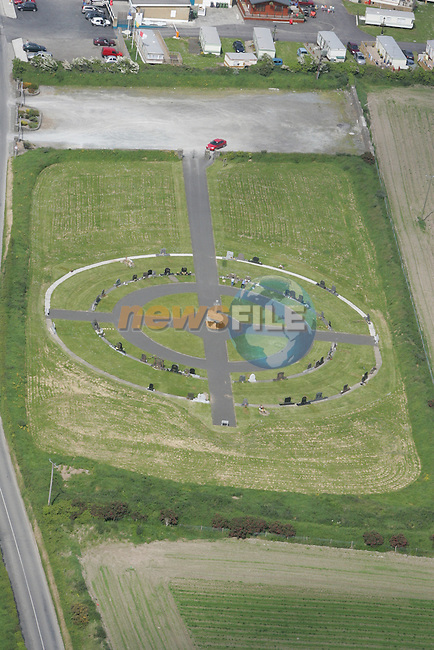 Aerial view of Clogherhead Graveyard...Photo NEWSFILE/Fran Caffrey.(Photo credit should read Fran Caffrey/NEWSFILE)....This Picture has been sent you under the condtions enclosed by:.Newsfile Ltd..The Studio,.Millmount Abbey,.Drogheda,.Co Meath..Ireland..Tel: +353(0)41-9871240.Fax: +353(0)41-9871260.GSM: +353(0)86-2500958.email: pictures@newsfile.ie.www.newsfile.ie.FTP: 193.120.102.198...This picture is from Fran Caffrey@newsfile.ie