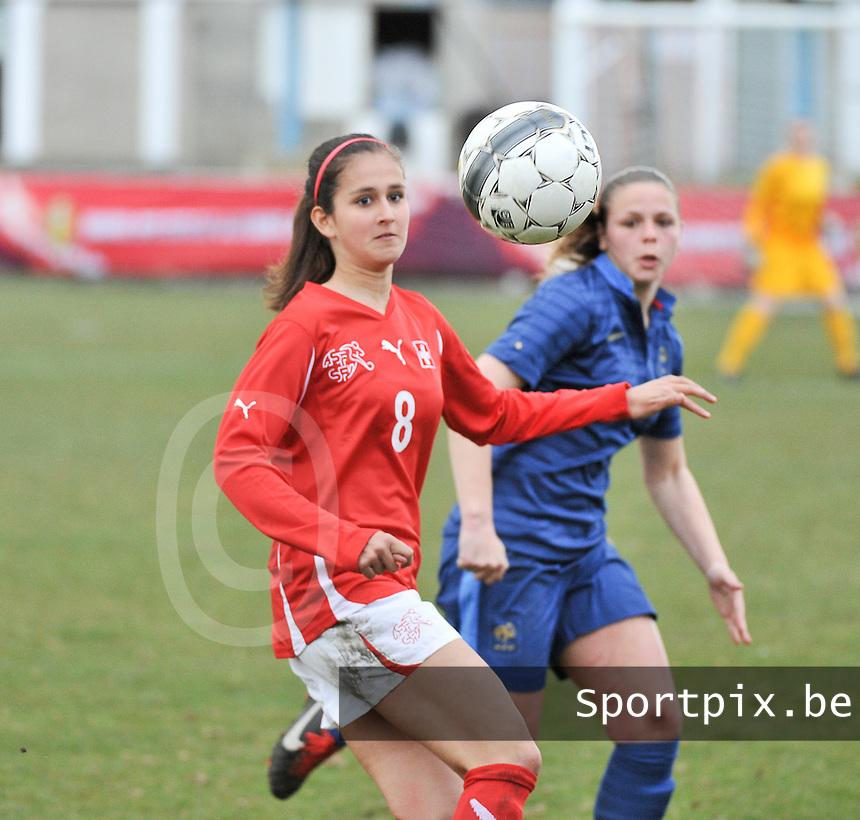 Switzerland U19 - France U19 : Aline Stöckli.foto DAVID CATRY / Nikonpro.be