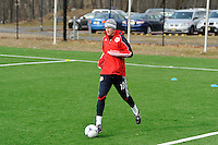 Ryan Meara during a New York Red Bulls practice on the campus of Montclair State University in Upper Montclair, NJ, on July 16, 2012.