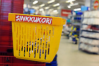 Espoo, Finlandia.Finland.<br /> Cestino per single.Basket for singles.