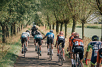 Wout Van Aert (BEL/Veranda's Willems-Crelan) steering his breakaway compagnions along the way...<br /> <br /> Antwerp Port Epic 2018 (formerly &quot;Schaal Sels&quot;)<br /> One Day Race:  Antwerp &gt; Antwerp (207 km; of which 32km are cobbles &amp; 30km is gravel/off-road!)