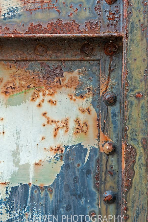 Old steel doors, Washington, abstract, commercial interior design, architectural interior design, interior design photograph