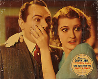 One Hour with You (1932) <br /> Lobby card<br /> *Filmstill - Editorial Use Only*<br /> CAP/KFS<br /> Image supplied by Capital Pictures