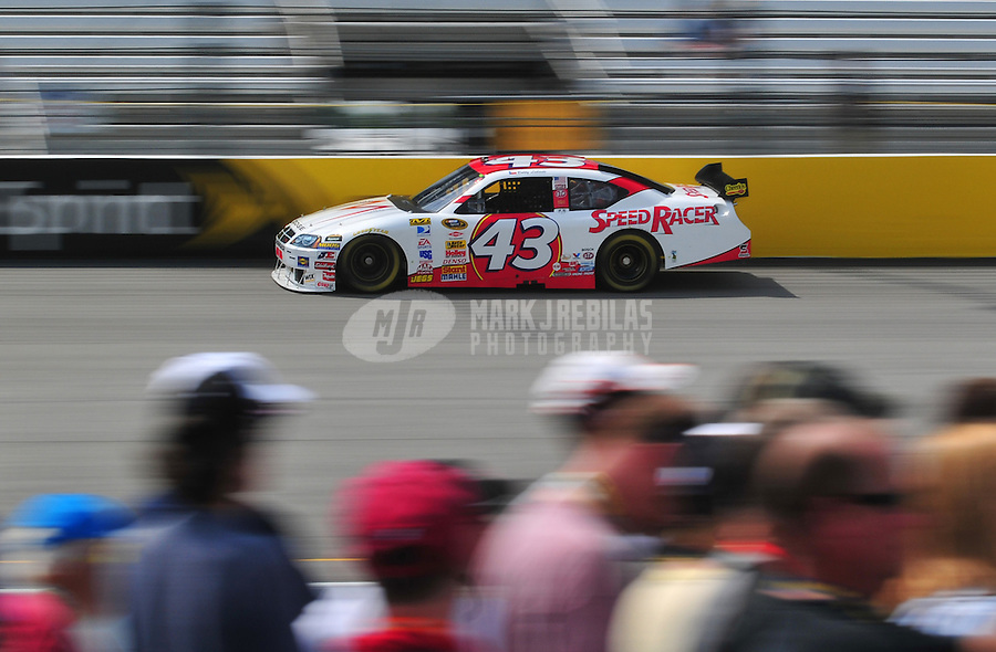 May 2, 2008; Richmond, VA, USA; NASCAR Sprint Cup Series driver Bobby Labonte during practice for the Dan Lowry 400 at the Richmond International Raceway. Mandatory Credit: Mark J. Rebilas-