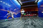 The Ambiance shot, <br /> AUGUST 23, 2018 - Squash : <br /> Men's Singles Round of 32 <br /> at Gelora Bung Karno Squash Stadium <br /> during the 2018 Jakarta Palembang Asian Games <br /> in Jakarta, Indonesia. <br /> (Photo by Naoki Nishimura/AFLO SPORT)