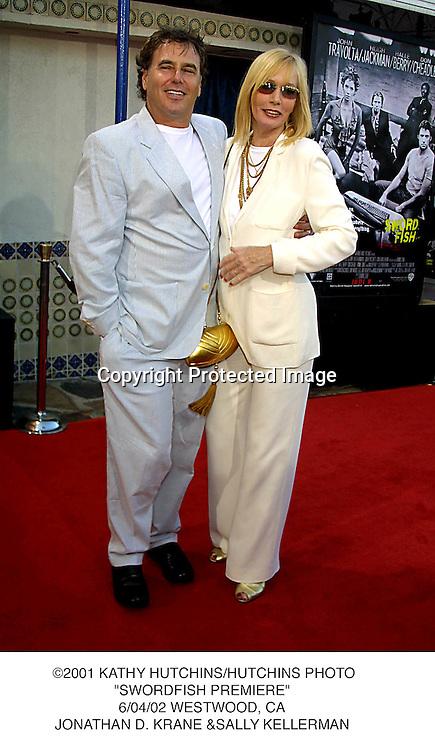 "©2001 KATHY HUTCHINS/HUTCHINS PHOTO.""SWORDFISH PREMIERE"".6/04/02 WESTWOOD, CA.JONATHAN D. KRANE &SALLY KELLERMAN"