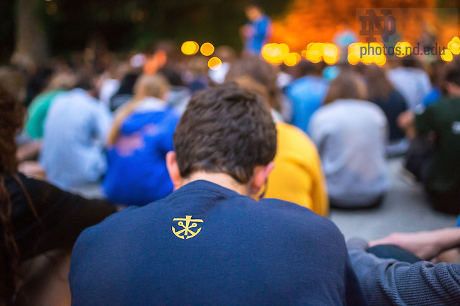 Jul. 2, 2015; Pre-College program visit to the Grotto. (Photo by Matt Cashore/University of Notre Dame)