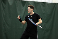 WINSTON-SALEM, NC - JANUARY 24: Kevin Huempfner of the University of Kentucky during a game between Kentucky and Penn State at Wake Forest Indoor Tennis Center on January 24, 2020 in Winston-Salem, North Carolina.