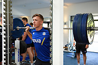 Darren Atkins of Bath Rugby in the gym. Bath Rugby pre-season training on July 2, 2018 at Farleigh House in Bath, England. Photo by: Patrick Khachfe / Onside Images