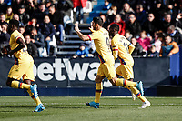 23rd November 2019; Estadio Municipal de Butarque, Madrid, Spain; La Liga Football, Club Deportivo Leganes versus Futbol Club Barcelona; Luis Suarez (FC Barcelona)  celebrates his goal which made it 1-1 - Editorial Use