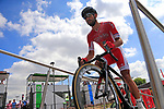 Nacer Bouhanni (FRA) Cofidis at sign on in Mondorf-les-Bains before the start of Stage 4 of the 104th edition of the Tour de France 2017, running 207.5km from Mondorf-les-Bains, Luxembourg to Vittel, France. 4th July 2017.<br /> Picture: Eoin Clarke | Cyclefile<br /> <br /> <br /> All photos usage must carry mandatory copyright credit (&copy; Cyclefile | Eoin Clarke)
