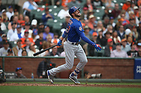 SAN FRANCISCO, CA - AUGUST 9:  Kris Bryant #17 of the Chicago Cubs bats against the San Francisco Giants during the game at AT&T Park on Wednesday, August 9, 2017 in San Francisco, California. (Photo by Brad Mangin)