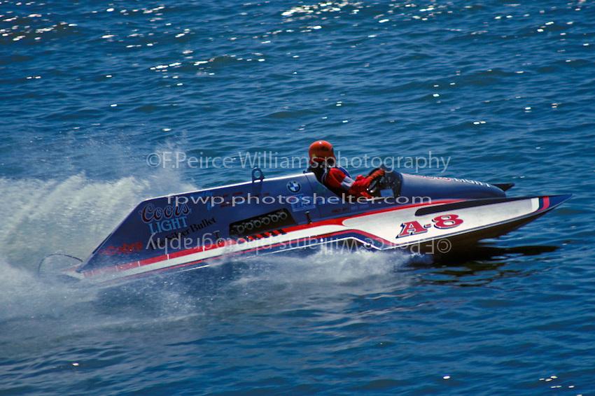 "Mike Cashin, A-8 ""Coors Light""  (2.5 MOD class hydroplane(s) 1988"