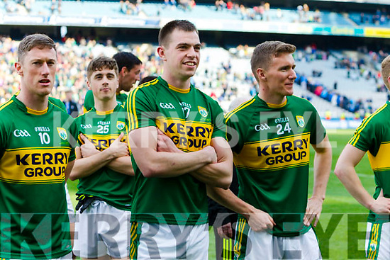 Jack Barry Kerry players celebrate after defeating Dublin at the National League Final in Croke Park on Sunday.