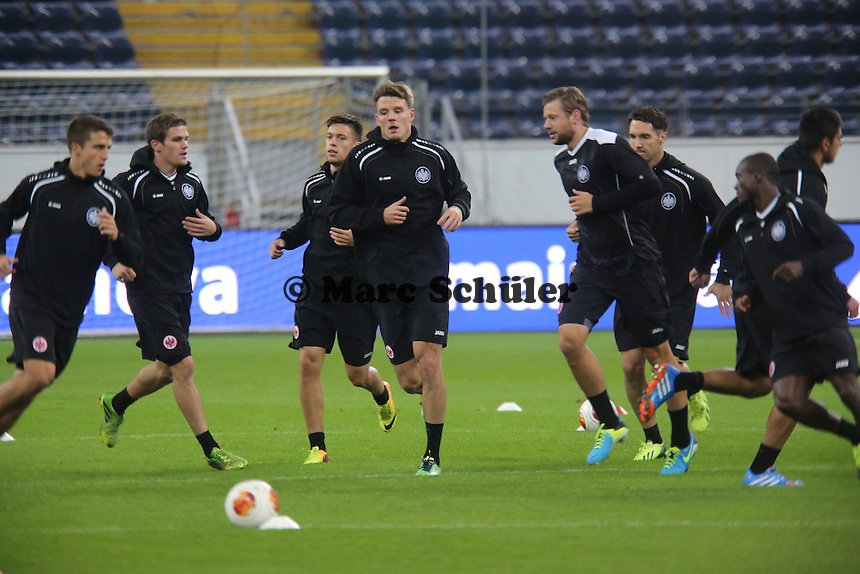 Alex Meier (Eintracht) trainiert mit - Training zur Begegnung der Europa League Eintracht Frankfurt vs. Girondins Bordeaux