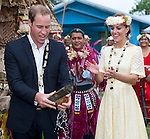 """CATHERINE, DUCHESS OF CAMBRIDGE LOOK ON AS PRINCE WILLIAM.cracks open a coconut with a machete in Funafuti, Tuvalu_18/09/2012.Mandatory credit photo: ©DIASIMAGES/NEWSPIX INTERNATIONAL..(Failure to credit will incur a surcharge of 100% of reproduction fees)..                **ALL FEES PAYABLE TO: """"NEWSPIX INTERNATIONAL""""**..IMMEDIATE CONFIRMATION OF USAGE REQUIRED:.DiasImages, 31a Chinnery Hill, Bishop's Stortford, ENGLAND CM23 3PS.Tel:+441279 324672  ; Fax: +441279656877.Mobile:  07775681153.e-mail: info@newspixinternational.co.uk"""