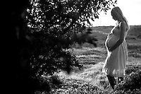 Woman Pregnant In Field