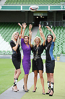 NO REPRO FEE. 8/9/2010. Bóthar launching Rugby Rocks Fashion. Ms Clare, Alice Carroll (right), Celia Holman Lee, Modeling agent, Niamh Mulqueen Bothar and Ms Limerick, Valerie Somers (left) are pictured at the the Aviva Stadium, Lansdowne Road, Dublin to launch Bóthar's Rugby Rocks Fashion.This is the first fashion event to take place at the newly developed stadium. Tickets are EUR60 and discounts are available with multiple purchases. Log onto www.bothar.ie for further information or call 1850 82 99 99.. Picture James Horan/Collins