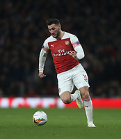 Arsenal's Sead Kolasinac<br /> <br /> Photographer Rob Newell/CameraSport<br /> <br /> UEFA Europa League First Leg - Arsenal v Napoli - Thursday 11th April 2019 - The Emirates - London<br />  <br /> World Copyright © 2018 CameraSport. All rights reserved. 43 Linden Ave. Countesthorpe. Leicester. England. LE8 5PG - Tel: +44 (0) 116 277 4147 - admin@camerasport.com - www.camerasport.com