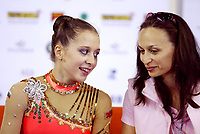 September 27, 2003; Budapest, Hungary; (L-R) SYLVIA MITEVA of Bulgaria with her coach and mother Sylvia Miteva at 2003 World Championships.