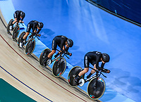 Womens 4000m pursuit team win silver int eh final against Australia. Track Cycling, Anna Meares Arena, Commonwealth Games, Gold Coast, Australia. Thursday 5 April, 2018. Copyright photo: John Cowpland / www.photosport.nz /SWPix.com