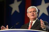 October 7, 2011  (Washington, DC)   Newt Gingrich was among several Presidential candidates to address attendees of the Values Voter Summit in Washington.  The Summit is organized by FRC Action, the non-profit legislative action arm of Family Research Council.   (Photo by Don Baxter/Media Images International)