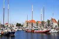 Boten in de Zuiderhaven in Harlingen