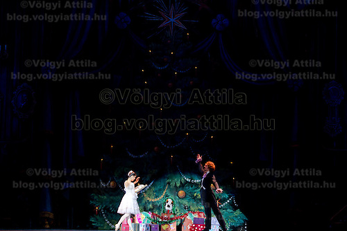 Members of the Moscow City Ballet Company perform their piece The Nutcracker in Budapest, Hungary on November 05, 2011. ATTILA VOLGYI