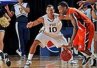 Florida International University guard Cameron Bell (10) plays against Bowling Green State University, which won the game 61-53 on December 22, 2011 at Miami, Florida. .