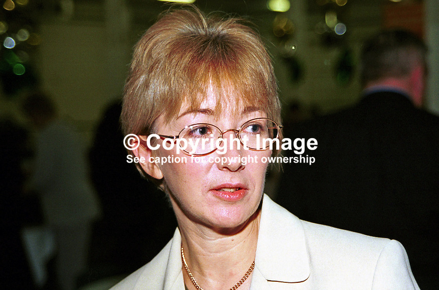 Mary Hanafin, TD, MP, junior minister, Fianna Fail, Rep of Ireland. Taken at Fianna Fail (Rep of Ireland Political Party) Ard Fheis (annual party conference) March 2000. Ref: 200003010..Copyright Image from Victor Patterson, 54 Dorchester Park, Belfast, UK, BT9 6RJ..Tel: +44 28 9066 1296.Mob: +44 7802 353836.Voicemail +44 20 8816 7153.Skype: victorpattersonbelfast.Email: victorpatterson@mac.com.Email: victorpatterson@ireland.com (back-up)..IMPORTANT: If you wish to use this image or any other of my images please go to www.victorpatterson.com and click on the Terms & Conditions. Then contact me by email or phone with the reference number(s) of the image(s) concerned.