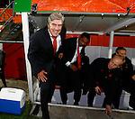 Nederland, Rotterdam, 15 oktober 2012.Interland.Jong Oranje-Jong Slowakije (2-0).Cor Pot, trainer-coach van Jong Oranje komt met een vrolijk gezicht de dug-out na afloop van de wedstrijd
