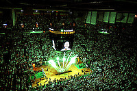 (060508 Boston, MA ) Fireworks set the stage before the Los Angeles Lakers and the Boston Celtics play game 1 of the NBA Finals at TD Banknorth Garden on Thursday, June 5, 2008.  Staff Photo by Matthew West.  .
