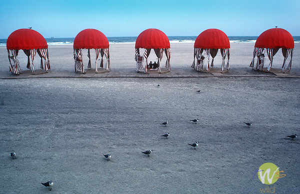Cabanas on beach, Atlantic City, 1993