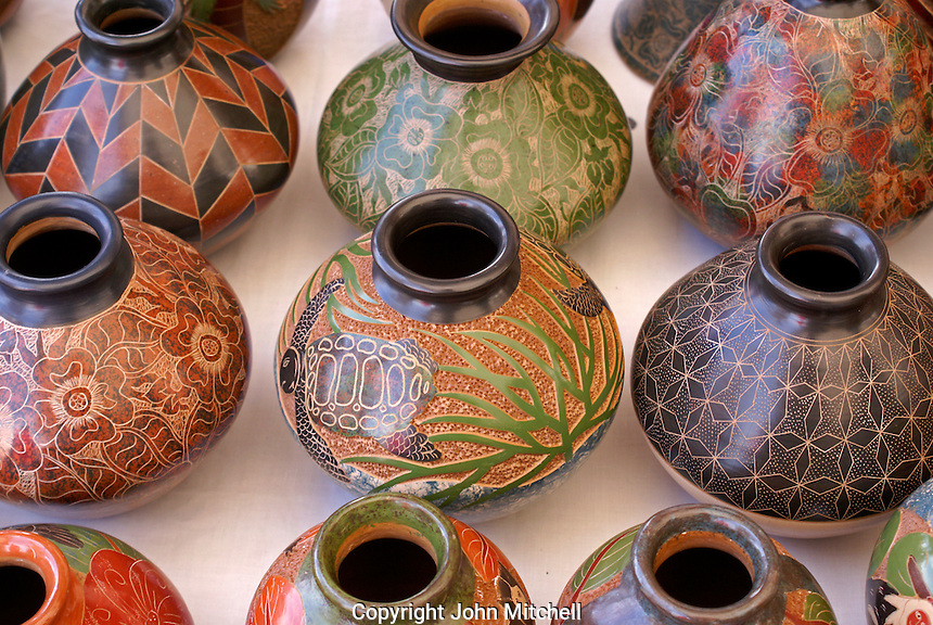 Pottery from San Juan de Oriente in the Pueblos Blancos or White Towns, Nicaragua