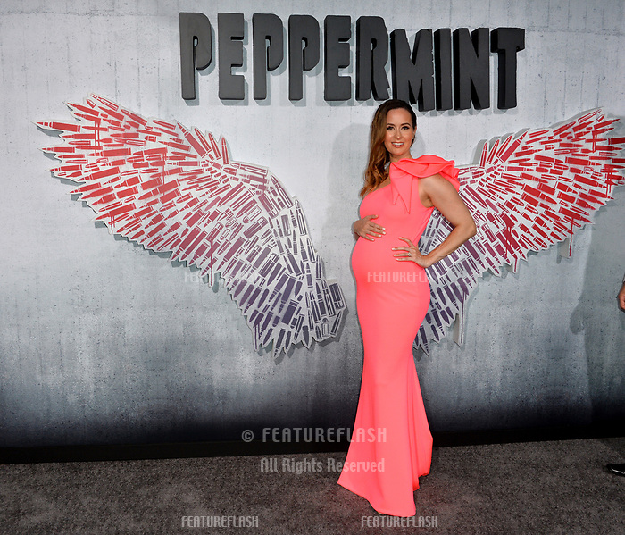"LOS ANGELES, CA. August 28, 2018: Erin Carufel at the world premiere of ""Peppermint"" at the Regal LA Live."
