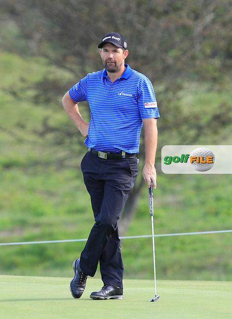 Padraig Harrington (IRL) on the 2nd green during Round 4 of the 2015 KLM Open at the Kennemer Golf &amp; Country Club in The Netherlands on 13/09/15.<br /> Picture: Thos Caffrey | Golffile