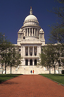 AJ3508, State House, State Capitol, Providence, Rhode Island, The State House in the capital city of Providence in the spring in the state of Rhode Island.