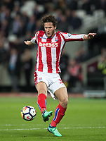 Ramadan Sobhi of Stoke City during the Premier League match between West Ham United and Stoke City at the Olympic Park, London, England on 16 April 2018. Photo by Andy Rowland.