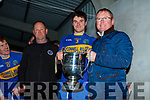 Greg Ryan McMunns Bar and Restaurant Ballybunion Sponsors presenting Sean T Dillon Capt of St Senans with the Cup after defeating Ballydonoghue in the final played in Moyvane on Sunday